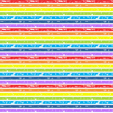 stripes seamless: Seamless vector cute rainbow background. Grunge brushes