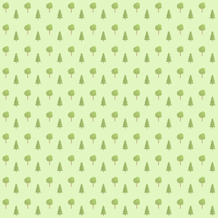 Vector seamless green pattern of forest tree. Can be used in scrapbooking