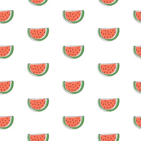 Seamless watermelon pattern Illustration