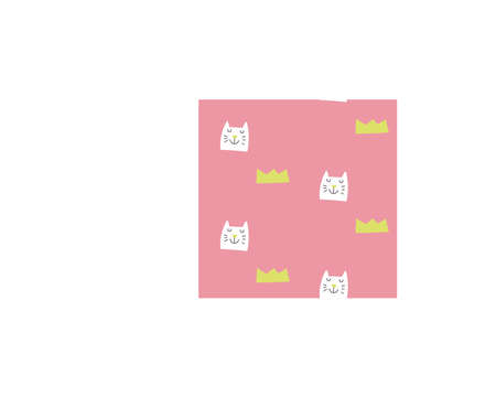 Simple baby pink pattern with cat and crown
