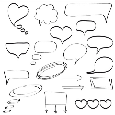 bubbles. set of vector sketches Vector