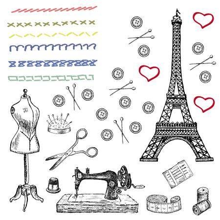 fashion. set of vector sketches Illustration