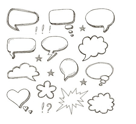 frames and bubblies. set of vector sketches Vector