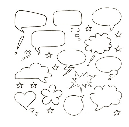 speech bubblesr. set of vector sketches Vector