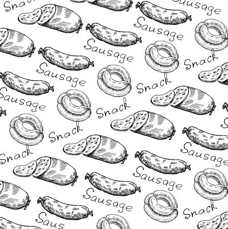wrapper voor snacks. set van vector schetsen