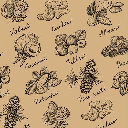 pecans: nuts set