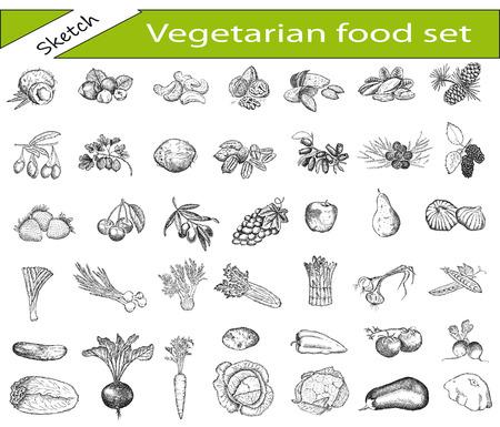 vegetarisch voedsel Stock Illustratie