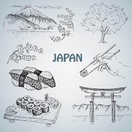 itsukushima: japanese illustration Illustration