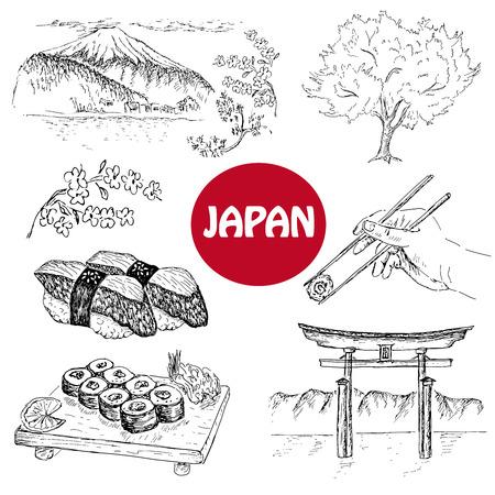japanese illustration Ilustração