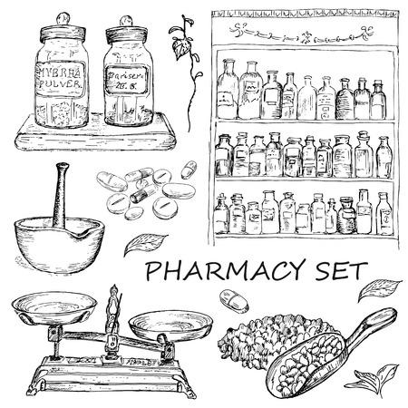 pharmacy set Vector