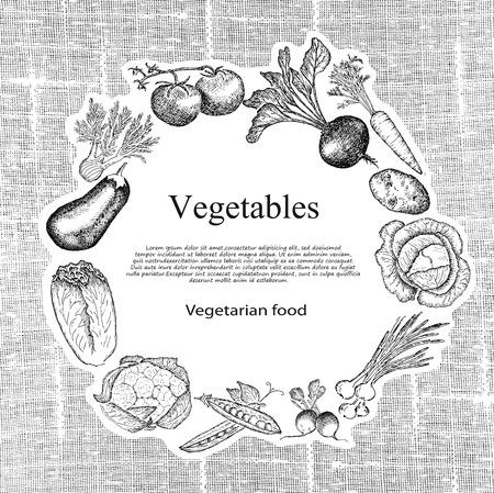 raw potato: vegetables set