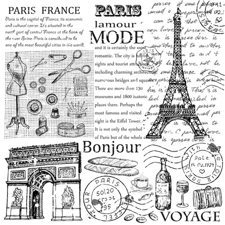 Paris Eiffel Tower Illustration