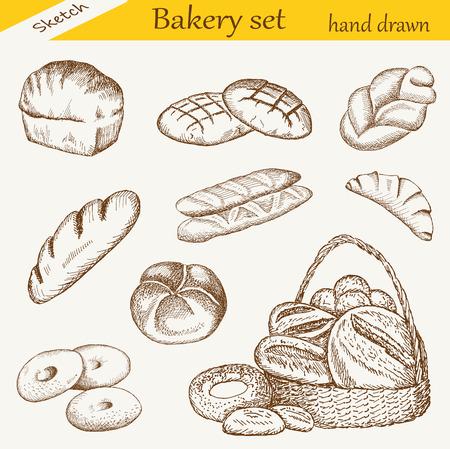bakery set Ilustração