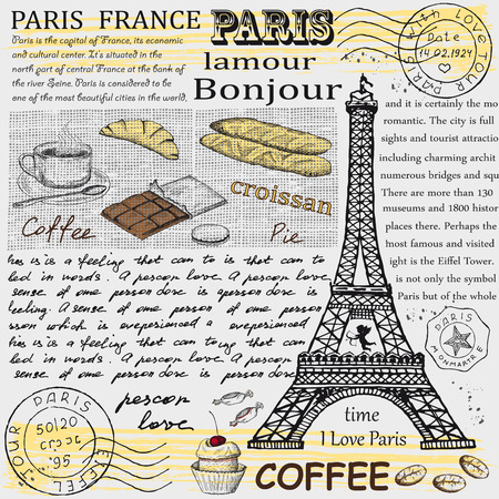 vin chaud: Paris Tour Eiffel Illustration