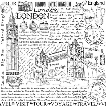 river thames: london Illustration