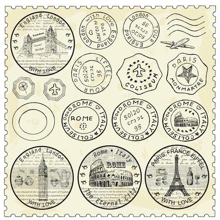 passeport: ensemble de timbre