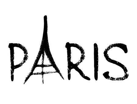 Vector illustration of Eiffel Tower on white background Illustration