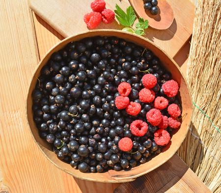 Blackcurrant and raspberries.