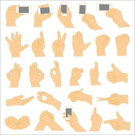 Human Hand collection, different hands, gestures, signals