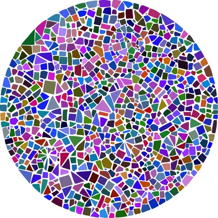 Colorful mosaic background in a round shape Ilustrace