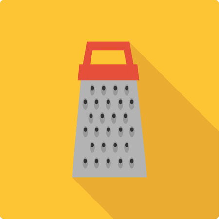 Grater. Simple flat vector illustration on yellow background Illustration