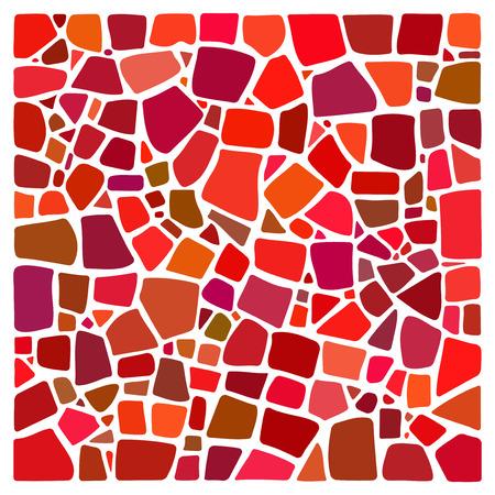 Sfondo colorato in stile mosaico. NON un modello. piazza stile mosaico. frammenti di tegole di ceramica. Abstract texture Mosaico. elemento di design Mosaico. Mosaico sfondo. Facile da ricolorare. Archivio Fotografico - 54270405