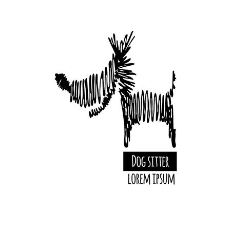 sitter: Dog line icon