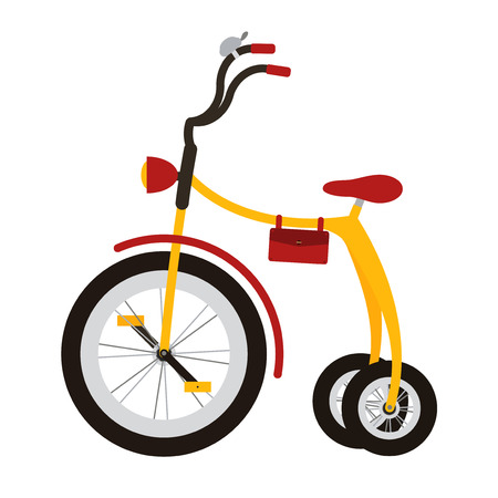 tricycle: Tricycle on white background. Isolated bycicle for kid.