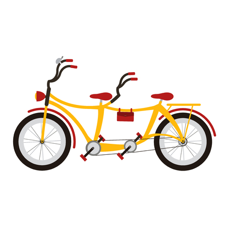 tandem bicycle: Tandem bicycle on white background.