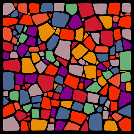 Colorful vector mosaic background. Ceramic tile texture. Easy to recolor.