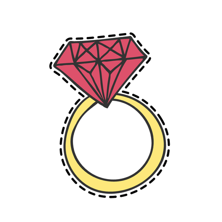 Isolated vector ring in patch style.