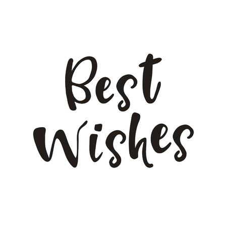 최고의 레터링을 원합니다. 흰색 배경에 고립. 손으로 그려진 된 인사말 카드 디자인 요소입니다. 행복 한 생일, 메리 크리스마스와 행복 한 신년 카드  일러스트
