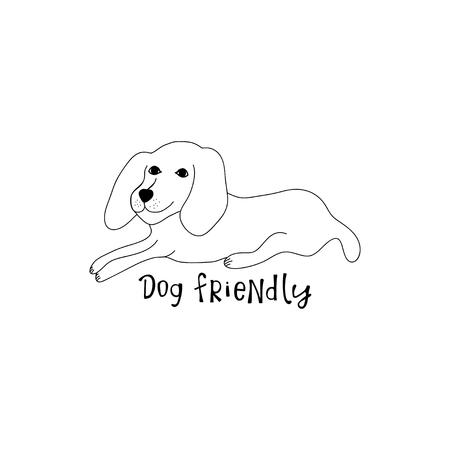 Dog on white background. Illusztráció