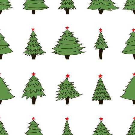 Christmas trees on white background. Illusztráció