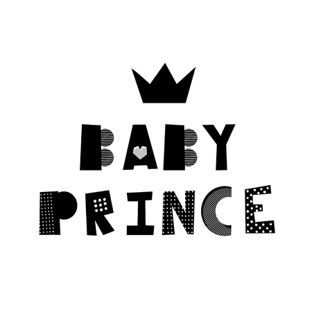 Baby prince creative lettering