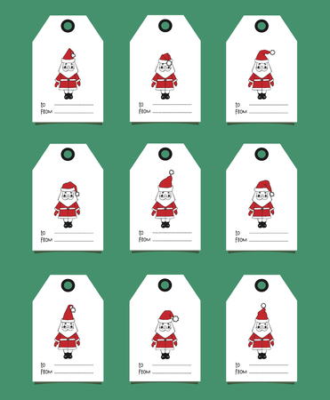 Gift tags with Santa Claus