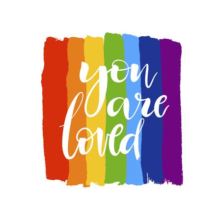 Rainbow colors LGBT culture sign. Gay pride design element.