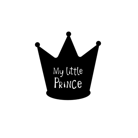 Black crown with my little princess text.