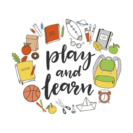 Play and learn hand written phrase.