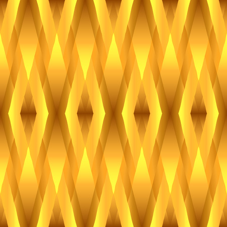 Abstract gold seamless pattern with entwined bands of different  shades of gold. This pattern looks luxurious and can be used for holiday decorations, cards, invitations, gift wrapping Stock Photo