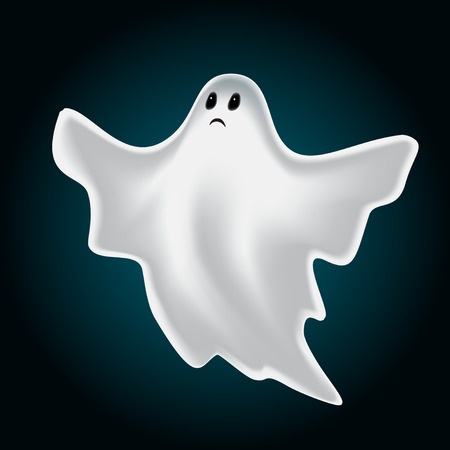 ghostly: Halloween design with ghost
