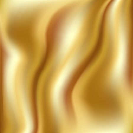 Flow gold background. Bright liquid gold stream. Smooth gradient template for poster, banner, cover. Vector illustration.