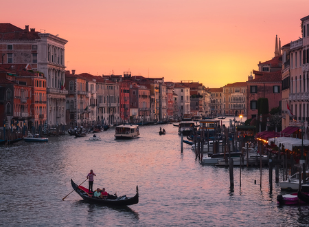 Venice, Italy at sunset in summer