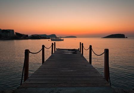 sunrise in Es Canar, Ibiza, Spain