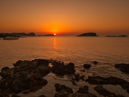 sunrise in Es Canar, Ibiza, Spain