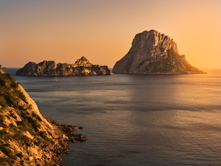 Islets of Es Vedrá and Es VEdranell, Ibiza, Spain Stockfoto