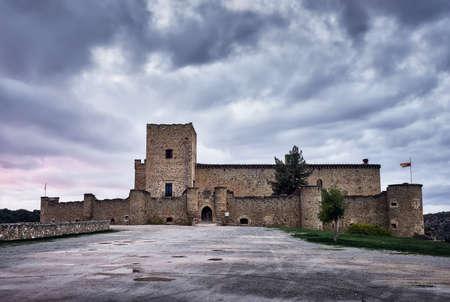 pedraza castle in Segovia, Castilla y Leon, old medieval building Editorial