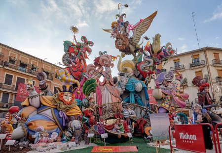 Valencia, Spain, September 5, 2021. Las Fallas de Valencia, Jerusalem Convent. Winning work of the first special prize of Fallas 2021. Fantasia Veneciana, by the artist Pere Baenas
