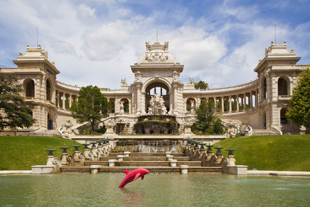 baukunst: The historic palace  Palais Longchamp  of Marseille in France