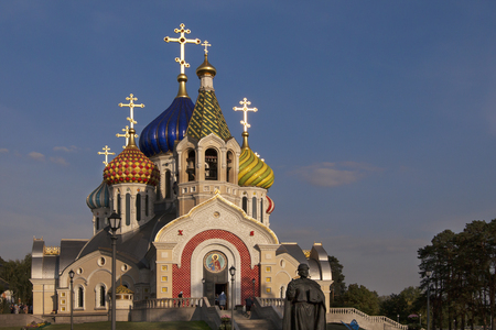 Cathedral of Chernigov in the Novo-Peredelkino District in Moscow. Saint Basil